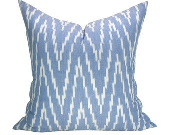 Kasari Ikat pillow cover in Ocean