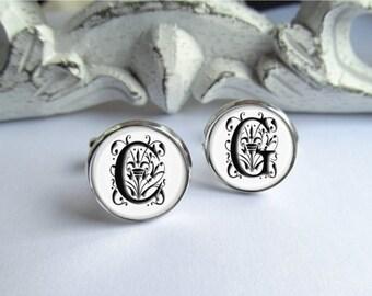 Custom Cuffinks, Monogram Cufflinks, Wedding Cufflinks, Personalized Cufflinks