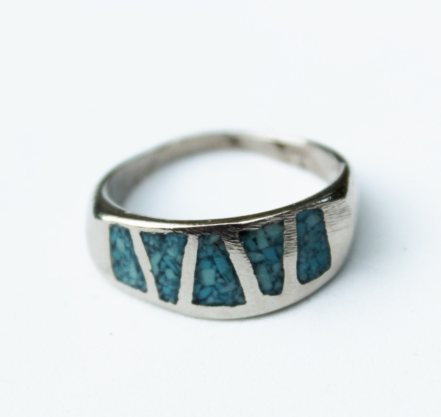 vintage s silver turquoise ring
