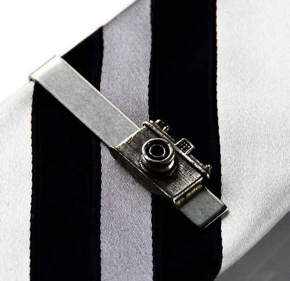 Camera Tie Bar : Camera tie clip bar clasp business gift by mancornas