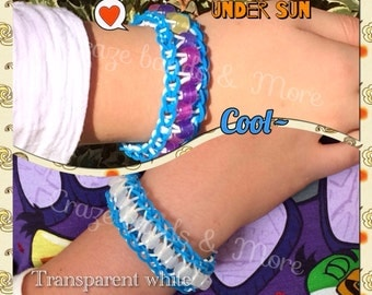 High Quality Solar Pony Beads UV color changing transparent fit any Loom Rubber bands bracelet craft Kandi school Science class