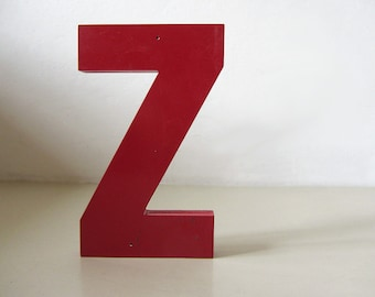 Vintage Industrial Letter Z