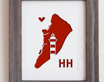 Hilton Head, South Carolina     Personalized Gift or Wedding Gift