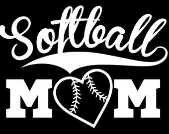 Softball Mom Vinyl Decal Sticker