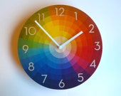 Objectify Color Wheel Wall Clock With Neutra Numerals - Medium Size