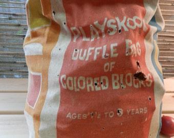 Playskool Duffle Bag of Colored Blocks