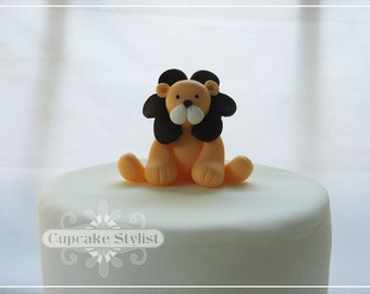 "Gumpaste Lion Cake Topper, 2-1/4"" tall, by Cupcake Stylist on Etsy"