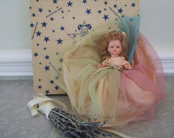 Vintage 1940s 1950s a hollywood doll rainbow wishing doll in a doll