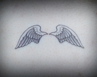 Temporary Tattoo - Angel Wings Tattoo - Angel Wings - Angelic - Live Free - Wing Tattoo