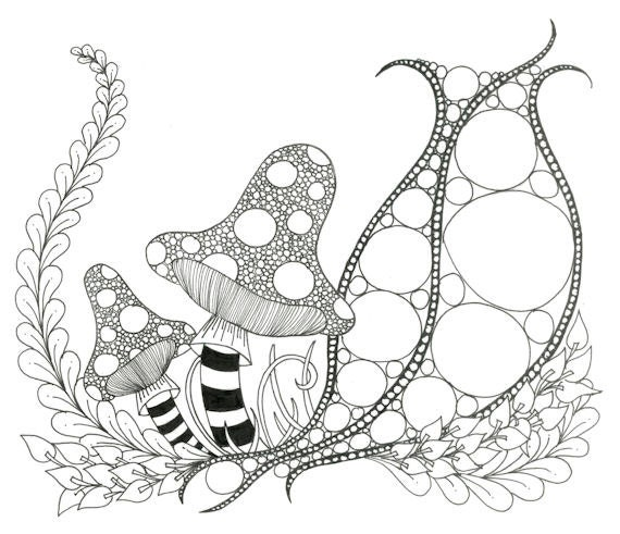 Printable Zendoodle Adult Coloring Page A3 by VioletMcQuinn
