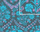 11020 Amy Butler PWAB094  Cameo collection - Josephine's Bouquet in slate color Fabric - 1 Yard