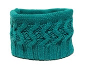 Medium Teal Knitted, Desi...