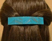 Large Glass Barrette For Thick Hair / Womans gift
