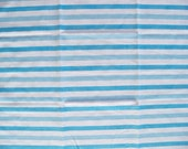 Vintage sheet fat quarter - blue stripe