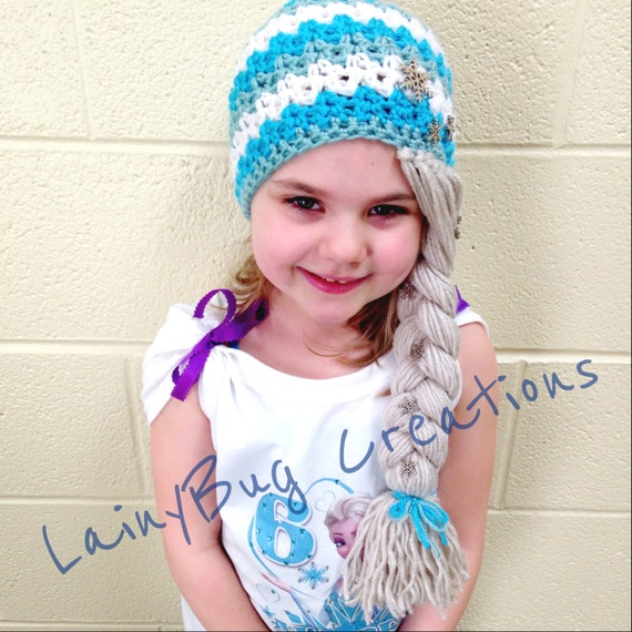 Crochet Elsa Hair Hat : Elsa Inspired Crochet hat by LainyBugCreations on Etsy