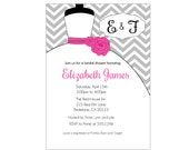 Wedding Dress Day- Bridal Shower -  Full Invite Digital Custom Invitation Card  PRINTABLE