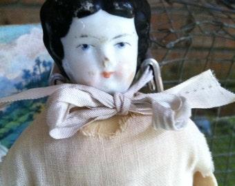 Charlotte doll, old porcelain doll, vintage doll