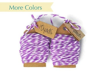 Lilac bakers twine purple wrapping cord. Cotton floss string for gift wrapping or packaging