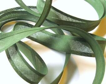 10m x 25mm bias binding tape, sage green