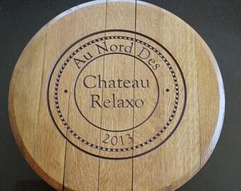 custom engraved wine barrel lazy susan