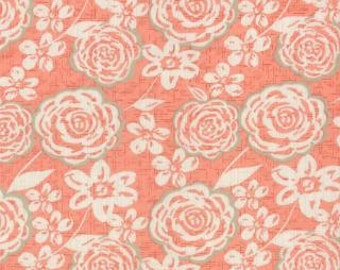 Modern Roses - Ginger Camelot Peach by Stephanie Ryan from Moda