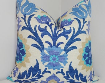 OUTDOOR Pillow Cover Bright Colorful Waverly Santa Maria Floral  Indoor/Outdoor Pillow Cover 18x18