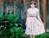 Floral 80s A-line Dress - Small