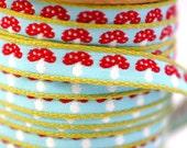Woven Ribbon Toadstool, 1 cm width, 2 Meters (2.18 yard)