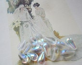 Czech Glass Teardrops Crystal AB 13x7mm 25Pcs.
