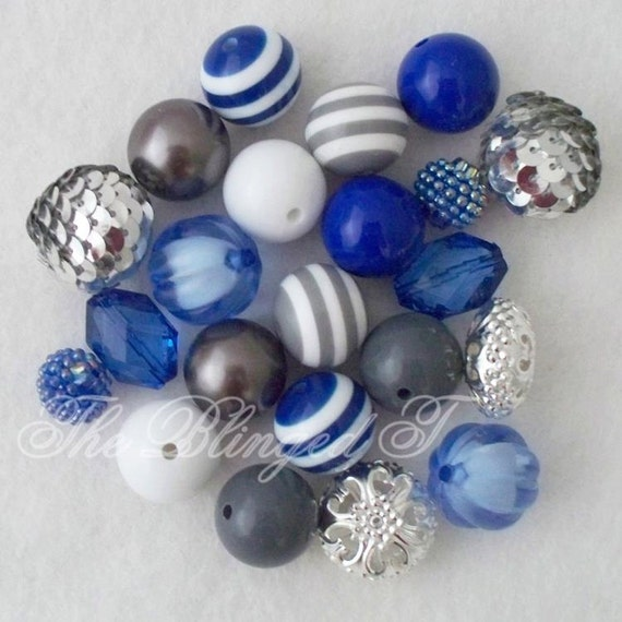 chunky gumball bead necklace diy kit set with by theblingedt