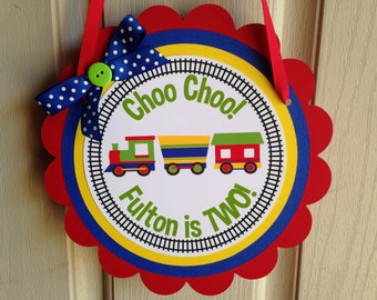 Choo Choo Train Birthday Party Door Sign