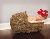 Baby Headband, Infant Headband,Toddler Headband Christmas flower,Newborn Photo Prop, Girl Accessory, Burlap Flower headband, red headband