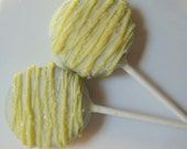 White Chocolate Oreo Pops with Yello Drizzle - 18