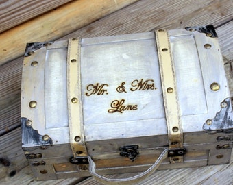 LARGE Wedding Card Box Trunk Wine Love Letter Ceremony Anniversary Rustic Shabby Chic Fairytale Vintage Wedding Custom