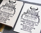 Botanical Buffalo and Succulent Wedding Stamps, Invite and RSVP