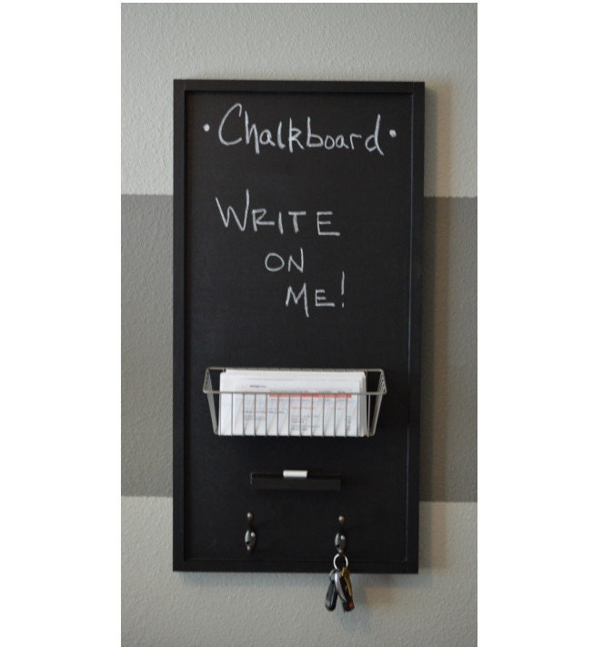 Chalkboard Mail Organizer Wall Mounted With Ledge
