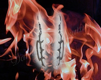 The Sword Of Kahless - Stainless Steel Bat'leth Earrings