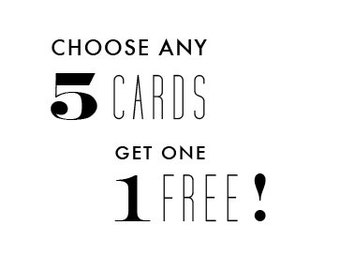 Pack of 6 letterpress greeting cards - custom greeting card mix pack