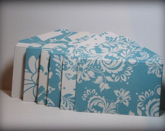 2x3.5 Pretty Turquoise/Aqua Blue Tapestry Gift Card Envelopes