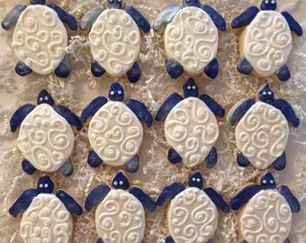 Sea Turtle Wedding Favor Sugar Cookie