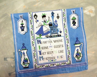 Kitchen Towel Purple Kitchen Fallani & Cohn Dish Towel Linen Towel Vintage Towel Housewarming Gift Hostess Gift
