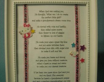 Framed Poem for Granddaughters