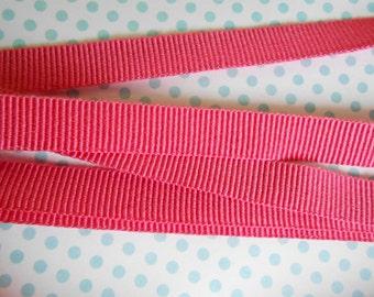 """Grosgrain Pink Petal 3/8"""" width 5yds"""