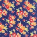 Miss Kate flannel navy floral fabric by Bonnie and Camille for Moda fabric 5509117F