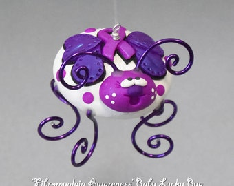 Fibromyalgia Awareness Baby Lucky Bug