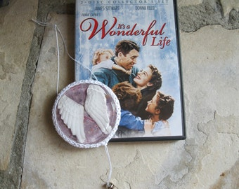 """Tribute - Memorial - Angel Wing Sculpture - Resin Christmas Tree Ornament ~ 3D ~  """"Every time you hear a bell ring, """""""