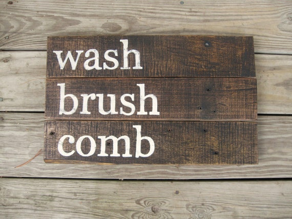 Distressed Wall Decor rustic wall decor distressed wood sign rustic bathroom decor