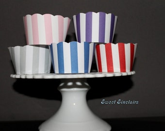 Assorted Stripe cupcake wrappers