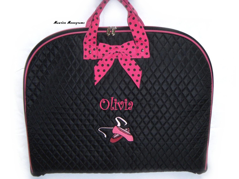 garment bag wedding dress garment bag Personalized Dance Garment Bag Embroidered Ballet Shoes Name