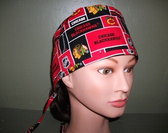 Male scrub cap with ties